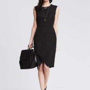 BANANA REPUBLIC Sloan Fit Black Sheath Dress 4